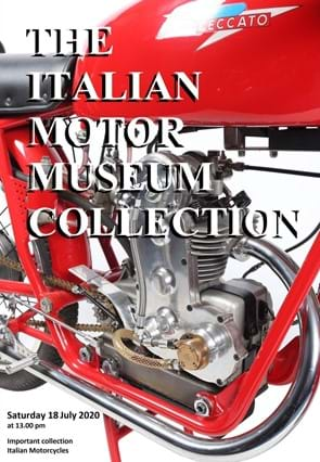 Italian Motor Museum Collection Sale Catalogue Cover